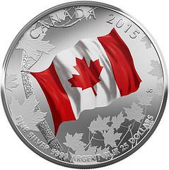 canada-2015-flag-25-dollars coin