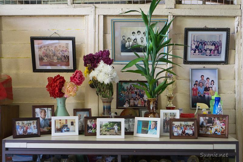 Family photos on display