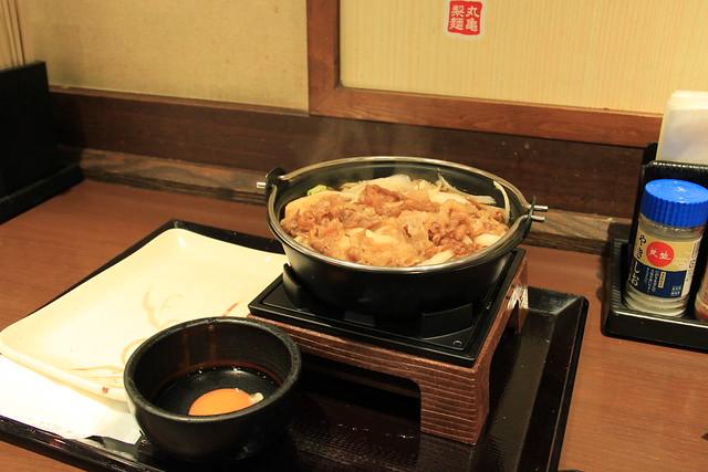 晚餐 丸龜製麵 牛肉壽喜燒