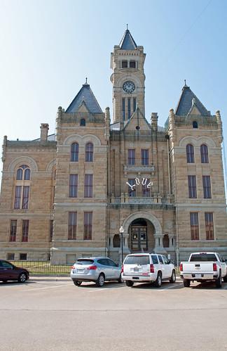 architecture texas courthouse romanesque courthouses revival hallettsville 1897 nationalregisterofhistoricplaces texascountycourthouses lavacacounty eugeneheiner 71000945