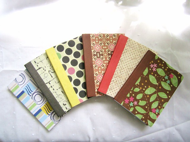 Mini-Composition Books Covered with Scrapbook Paper from Flickr via Wylio