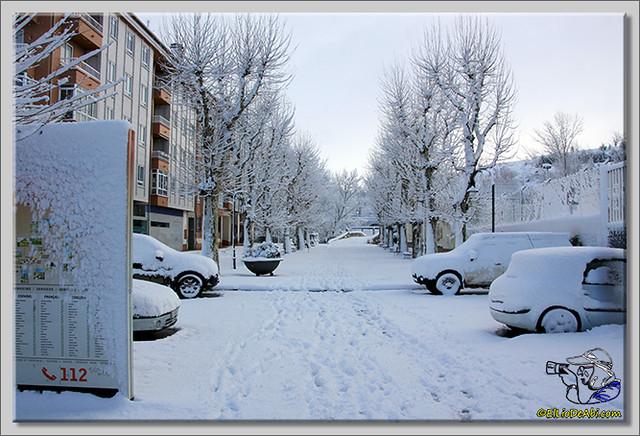 9 Primera nevada en Briviesca 2015