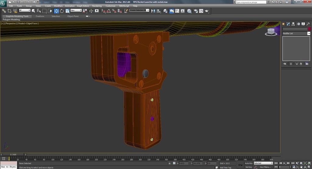 RPG Rocket Launcher Work In Progress Wire Frame Screenshots