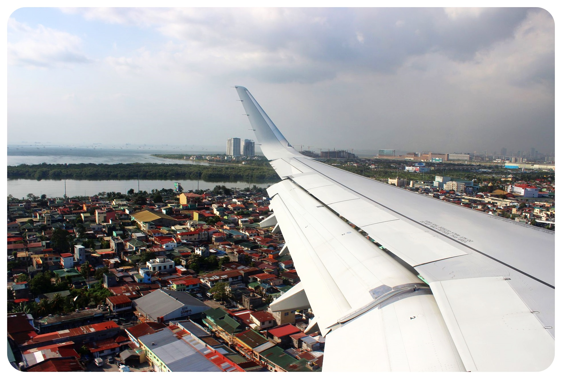 flying into manila