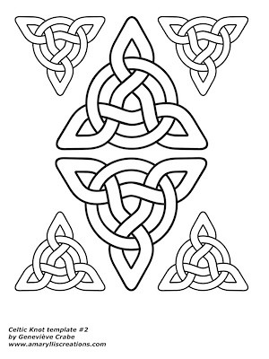 Celtic knot template 2
