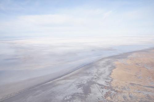 【写真】世界一周 : ウユニ塩湖(飛行機より)