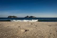 Barra Beach Rio breaking wave