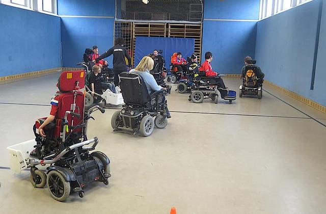 Training im Landesschulzentrum für Bewegung und Sprache