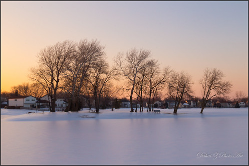 trees sunset snow ice pond neighborhoodpark canonef24105mmf4lisusm lakecountyillinois buffalogroveillinois canoneos6d
