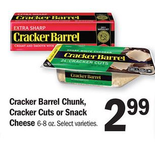 graphic relating to Cracker Barrel Coupons Printable titled Cracker Barrel Cheese $1.58 at Aim and $1.99 at Meijer