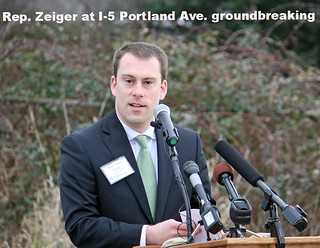 Rep. Zeiger speaks at I-5 Portland Ave. to Port of Tacoma Road groundbreaking