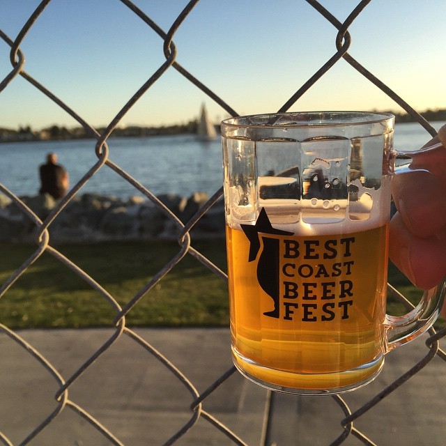 #kvpinmybelly Bottom's Up! Best Coast Beer Fest at #SanDiego Embarcadero South. NOM! #beerfest