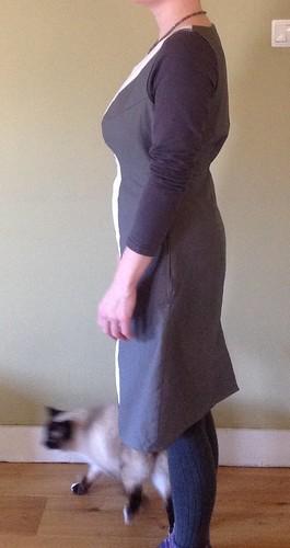 Selfdrafted dress with princess seams