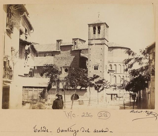 Santiago del arrabal en 1889. Fotografía de Marie Hubert Vaffier © Bibliothèque Nationale de France