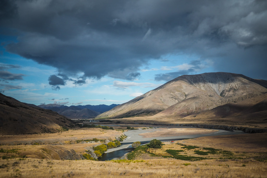 Confluence of Acheron and Clarence Rivers, Molesworth Muster Trail, New Zealand