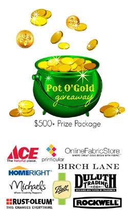 Shamrock Wall Hanging and Pot'O Gold Giveaway