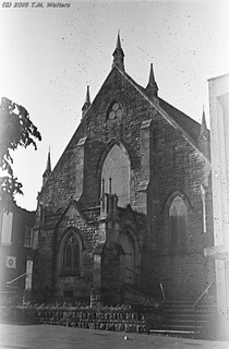 Wesley Church, Wollongong (1946 expired Kodak Fluorographic 35mm film)