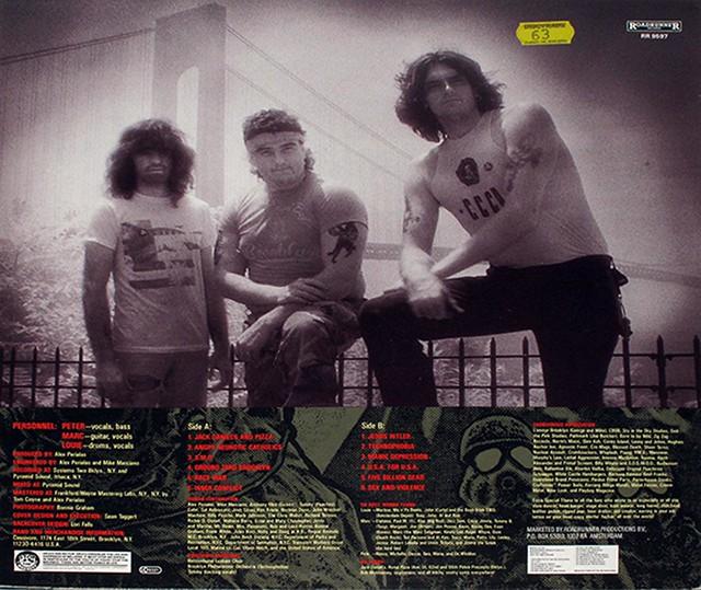 """CARNIVORE - RETALIATION Lyrics SLeeve 12"""" VInyl LP"""