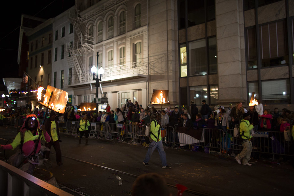 Flambeaux at Mardi Gras