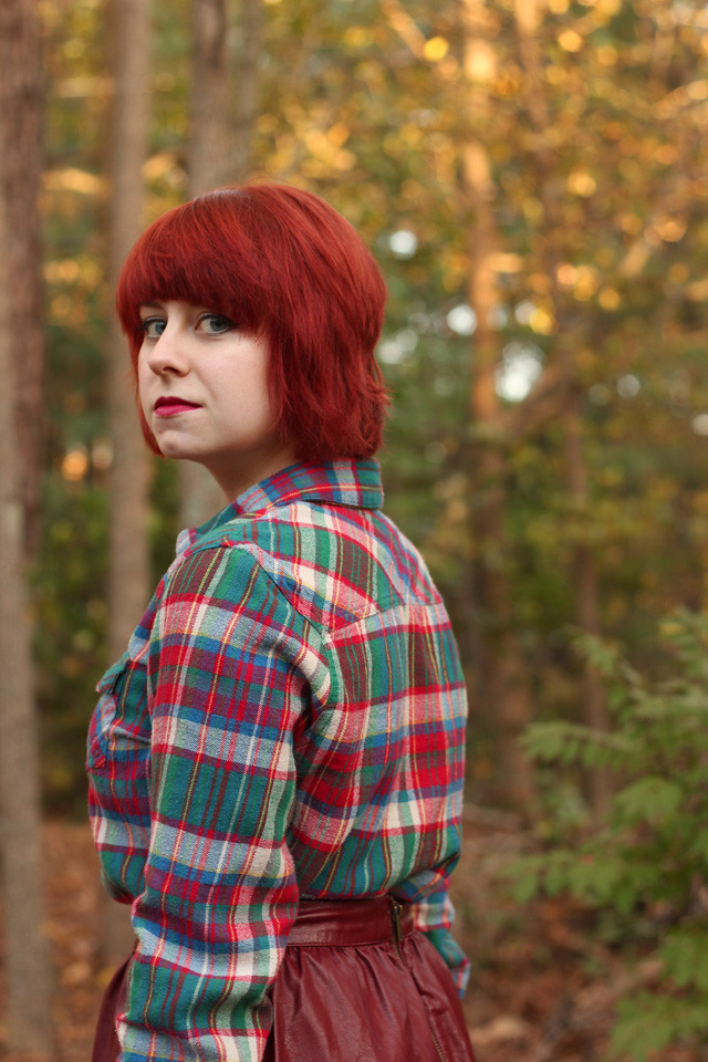 Short Red Hair and a Flannel Shirt