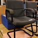 Grey fabric waiting chair