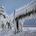 Saint Joseph Lighthouse in Winter - Michigan