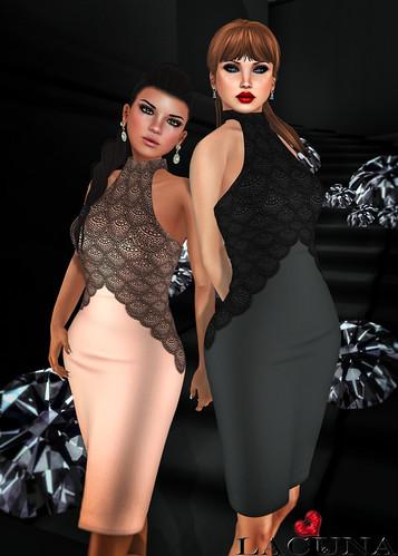 _LACUNA_ Schatze Halter Dress Ad