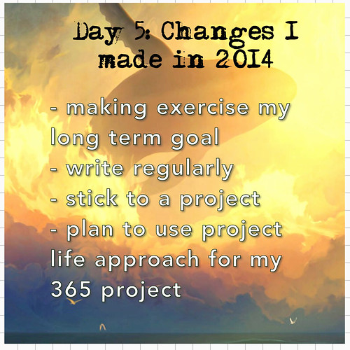 Day 5: Changes I made in  2014