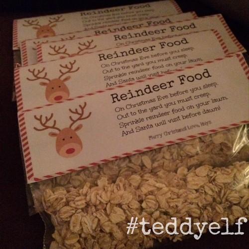 Reindeer Food with Labels