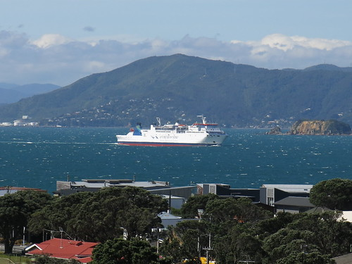 New Zealand Trans island ferry leaving Wellington
