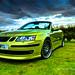 Lime Green Saab