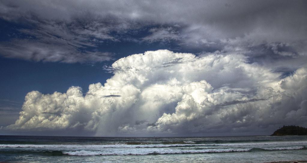 Storm cloud off Manly