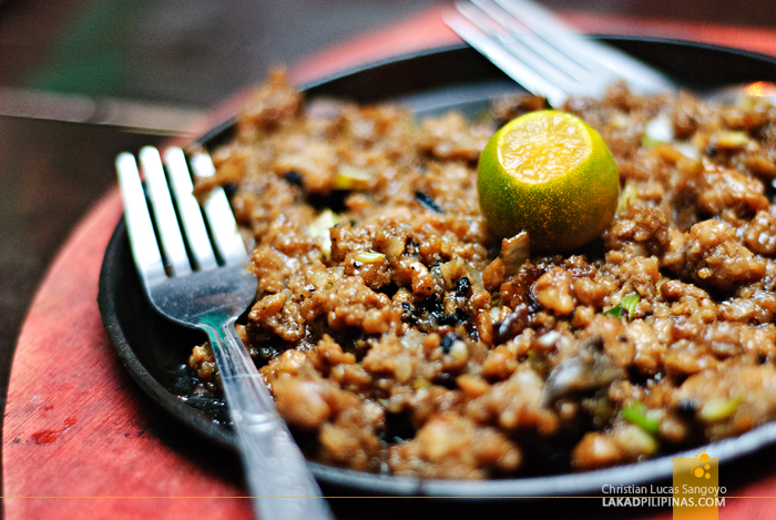Croc Sisig at the Baywalk Park in Puerto Princesa