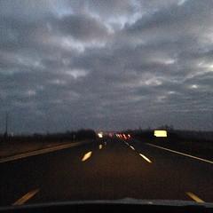 Sull autoroute l'ultima Alba dell'anno. #Loira
