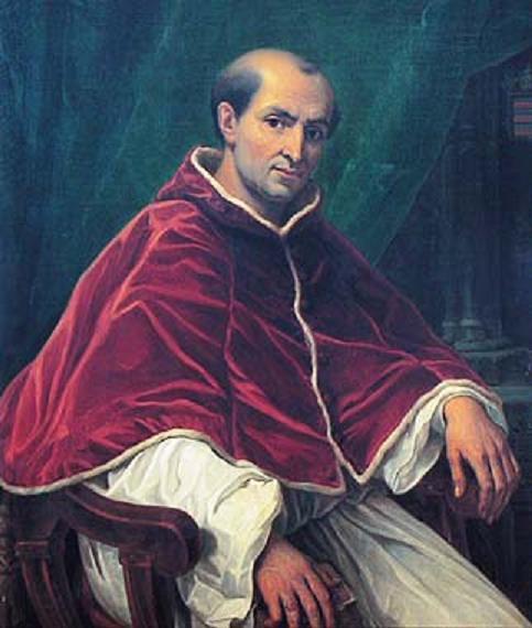 Portrait of pope Clement V in Avignon, France