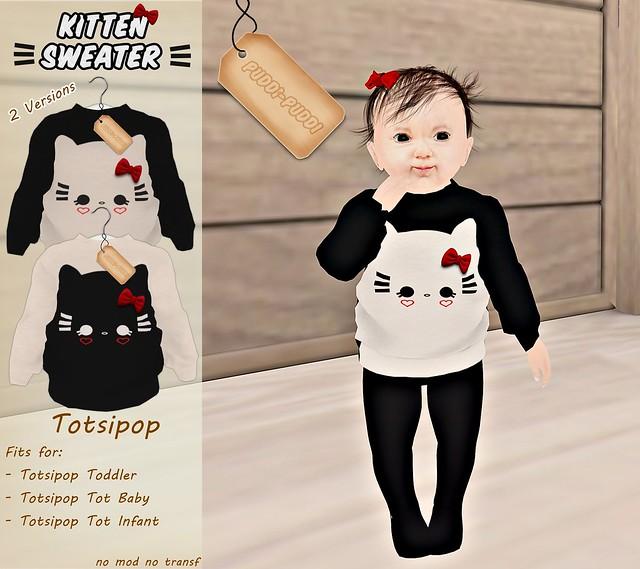 ::Puddi-Puddi:: Totsipop Kitten Sweater