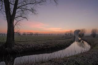 Evening is falling over the wetlands, Brugge, Belgium (explored)