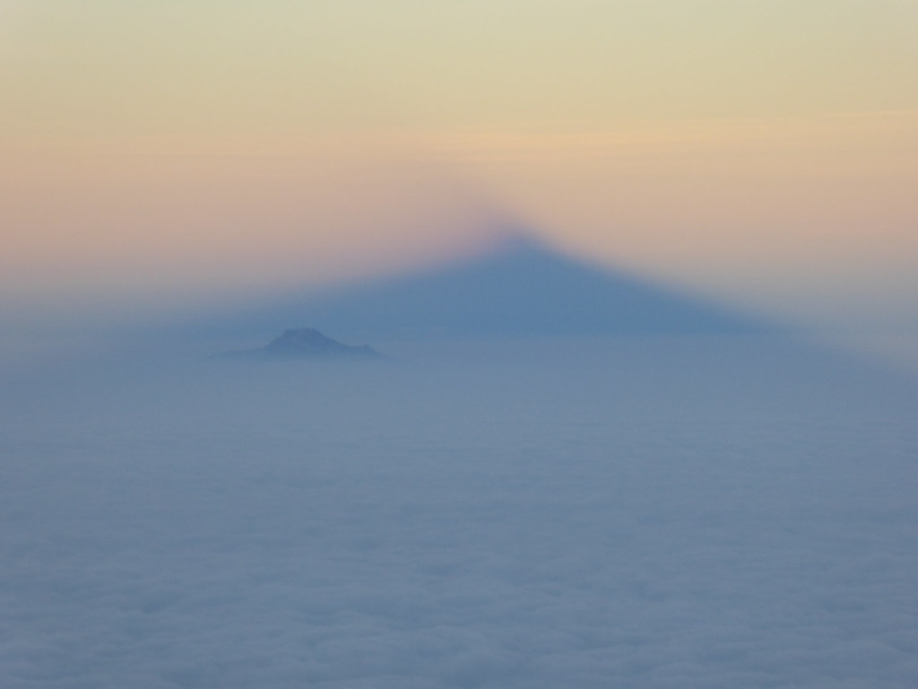Shadow of Pico de Orizaba at sunrise
