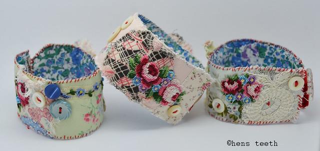 hand stitched cuffs