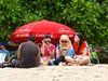 Digital girls on Kuta Beach .