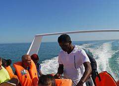 Speed boat ferry, Tulear to Anakao