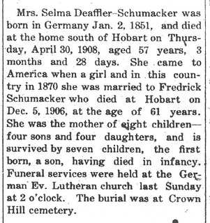 2015-3-5. Selma Schumacher obituary