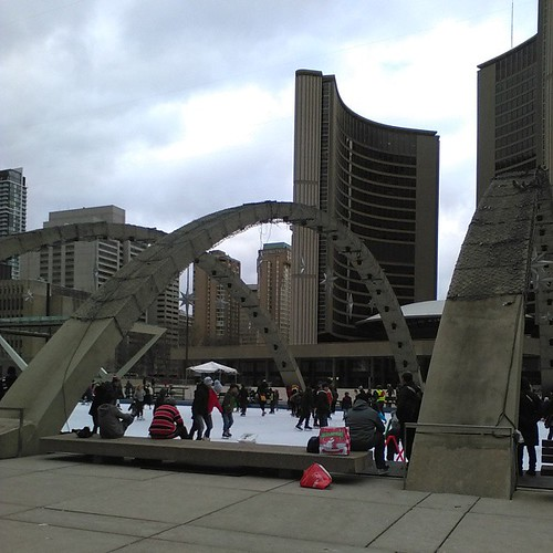 Christmas Day at City Hall, 1 #toronto #christmas #torontophotos #torontocityhall #cityhall