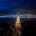 A Night on a Bridge by Thomas Hawk