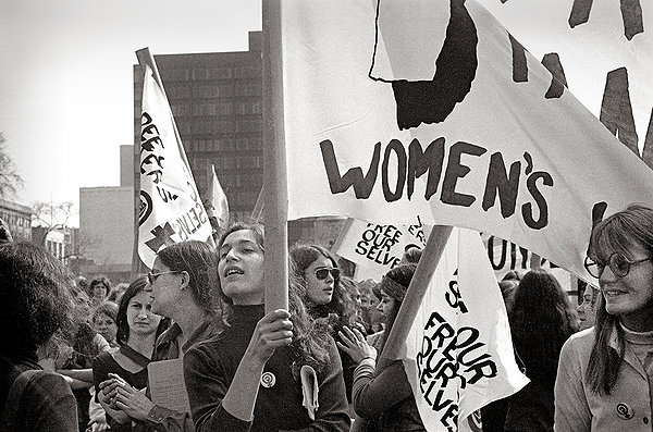 Early feminists spark the women's rights movement as seen in the somewhat incomplete SHE'S BEAUTIFUL WHEN SHE'S ANGRY.