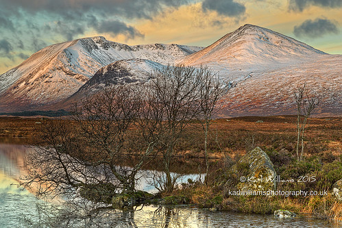 trees winter snow mountains ice sunrise landscape scotland morninglight highlands williams hills karl hdr rannochmoor blackmount zenfolio karlwilliams