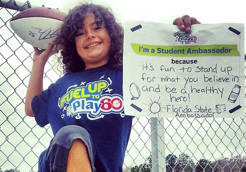"Meet Bobby, a ""Super Kid"" who champions nutritious food choices and physical activity for America's school children. Photo courtesy of Fuel Up to Play 60."