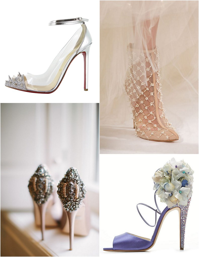 Glam gorgeous bridal shoes
