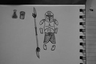Sentinel Armor & Vibro Staff