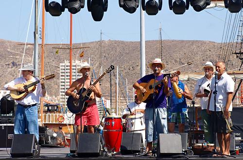 Folk music concert, Los Cristianos, Tenerife